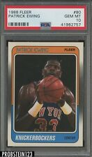 1988 Fleer #80 Patrick Ewing New York Knicks HOF PSA 10 GEM MINT