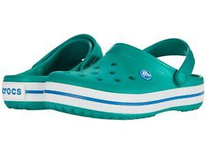 NWT - CROCS Baby's 'CROCBAND' Deep Green/Prep Blue SLIP-ON BREATHABLE CLOGS - 5