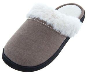 Isotoner Women's Jersey Knit Suri Clog Smoky Taupe Slip On Size 6.5-7