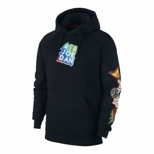 Nike Air Jordan Nike Mens Jumpman Sticker Hoodie Sweatshirt CT6723-01 0ALL SIZES