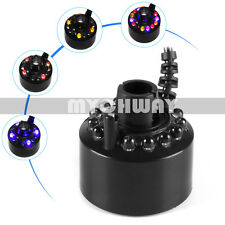 Ultrasonic Mist Maker Fogger Water Fountain Mini Air Humidifier Atomizer 12 LEDs