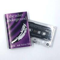 THE VELVET UNDERGROUND Live MCMXCIII Cassette Tape Rare