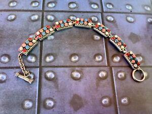 CFJ 925 Designer Multistone Toggle Link Bracelet
