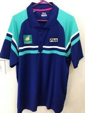 Bnp Paribas Tennis Open Embroidered Polo Shirt - Made By Fila - Adult 2Xl