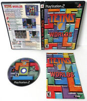 TETRIS WORLDS SONY PLAYSTATION 2 GAME DISC MANUAL CASE COMPLETE PS2 TESTED WORKS