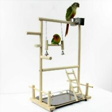 Birds Playstands Bird Playground Parrot Wood Perch Bridge Tabletop 20/9/7.8 inch