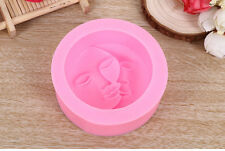 Silicone Candy Chocolate Cake Moon face Cookie Decorating Soap Molds Mould DIY