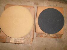 "18"" 1/4"" Thin Line  Hard Floor Buffing Pads  17 Tan Buff & 4 Black Strip  buffer"
