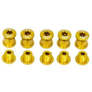 Details about 5 x Chainring Bolts 5 Arm Bike Crank Spare bolts A2Z - Gold