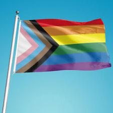 Rainbow Flag 90x150cm Gay rainbow Progress Pride flag Gay Lesbian TransBDSU