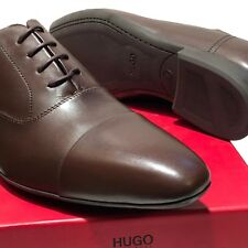 HUGO BOSS Red Label Brown Leather Captoe Men's Fashion 10 43 Oxford Dress Shoes