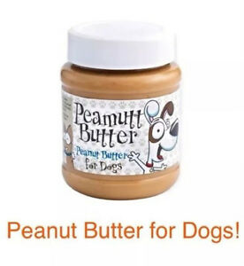 PEAMUTT NATURAL PEANUT BUTTER FOR DOGS - NO ADDED SUGAR, NO SALT, NO ADDITIVES