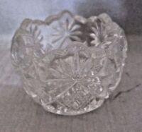 Shoshone Clear Open Salt Dip by US Glass #15046, Pressed Glass, Star & Fan