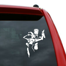Joker And Harley Embracing Vinyl Decal Color White 5 Tall