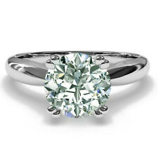 Diamond Engagement Ring .925 Silver Ring 2.57+Ct Round Near Ice White Moissanite