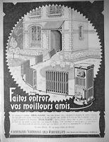 PUBLICITÉ DE PRESSE 1925 CHAUFFAGE CENTRAL CHAUDIÈRE IDEAL CLASSIC RADIATEURS