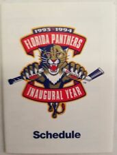1993 1994 FLORIDA PANTHERS INAUGURAL SEASON POCKET SCHEDULE - RARE NON SPONSORED