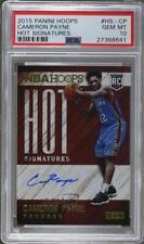 2015-16 Panini NBA Hoops Hot Signatures Cameron Payne #HS-CP PSA 10 Rookie Auto