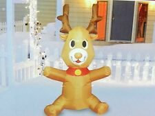 Inflatable Reindeer 4 Ft Lawn Yard New