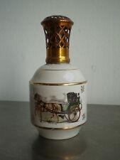 LAMPE BERGER ANCIENNE St MEEN PORCELAINE DESIGN 1950-60 DECO CHEVAUX ATTELAGE