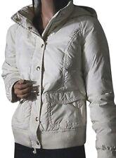 JUICY COUTURE DOWN HOODED SKI JACKET COAT WHITE CREAM SZ S NWT $248 *BEAUTIFUL!