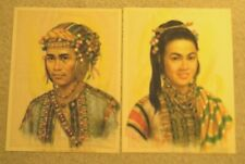 Two Cesar Amorsolo Philippine Tribal Portraits, Man & Woman