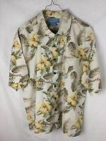 Bermuda Bay Men's 100% Washable Silk Hawaiian Style Short Sleeve Shirt Size XL