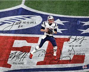 New England Patriots Tom Brady Super Bowl Championship 8x10 Autographed Photo