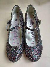 Lilley Sparkle Full Glitter Low Heel Party Shoes  - In Purple Multi - Size 3
