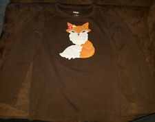 Girls Gymboree adorable fuzzy fox  top Sz 5 (pre-owned)