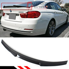 FOR 2014-19 BMW F36 4 SERIES GRAN COUPE 4DR CARBON FIBER M4 STYLE TRUNK SPOILER