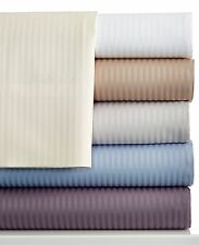 Charter Club 400 TC Tailored Fit Stripe Queen Sheet Set Blue U1723