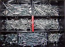 Blindnieten Sortiment Alu/Stahl 370 Teile Set Satz Din 7337 Ø 3,2mm