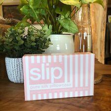 SLIP SILK PILLOWCASE Pink/White Stripe Queen/ Standard SILK New In Box