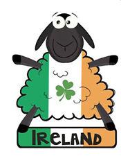 Irish Sheep Tricolour Flag Ireland Embroidered Sew-on Cloth Badge Patch Appliqué