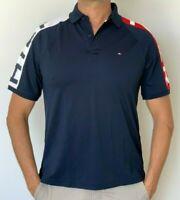 Tommy Hilfiger Mens Designer Sport Performance Polo  Blue Size M or XL