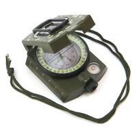 Kit outdoor sopravvivenza BUSSOLA prismatica lenticolare verde+livella+righello