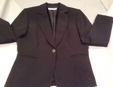 Tahari Blazer Black Pin Striped 12