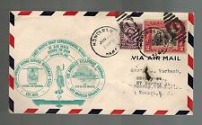 1931 Honolulu Hawaii to New Jersey USA Airmail First Flight Shore to Ship Cover