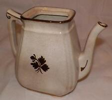 Vintage ALFRED MEAKIN ROYAL IRONSTONE CHINA Copper Tea Leaf Coffee Pot England