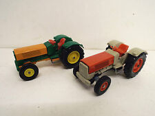 PAIR SIKU V287 HANOMAG TRACTOR'S RARE UNBOXED   (BS1025)