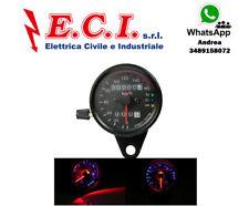 contachilometri doppio LED retroilluminazione LED per moto universale CAFE RACER