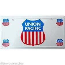 Santa Fe locomotive rail road train license plate union tag sign Track Pacific
