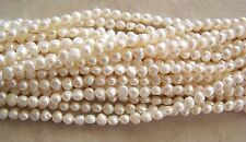 """16"""" Strand Off White Cream Freshwater Pearl Nugget Beads 7mm"""
