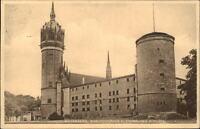WITTENBERG Bez. Halle 1930 Strassen Partie ad. Schlosskirche Schloss Kirche AK