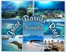 Australia - GREAT BARRIER REEF - Travel Souvenir Flexible Fridge Magnet
