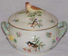 HEREND PORCELAIN TUREEN WITH BIRD FIGURE COVER AMAZING CONDITION