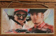 "Dale Earnhart & Dale Earnhart Jr wood sign Nascar Racing Made in USA 5"" X 10"""