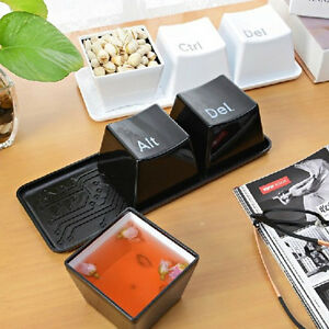 HOT SALE 1 Set of 3pcs Ctrl ALT DEL Keyboard Key Design Coffee Tea Cup Container