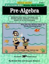 Masterminds Riddle Math for Middle Grades: Pre-Algebra: Reproducible Skill Build